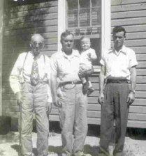 Four Generations-Sidney, Woodell, John, and Baby Mike
